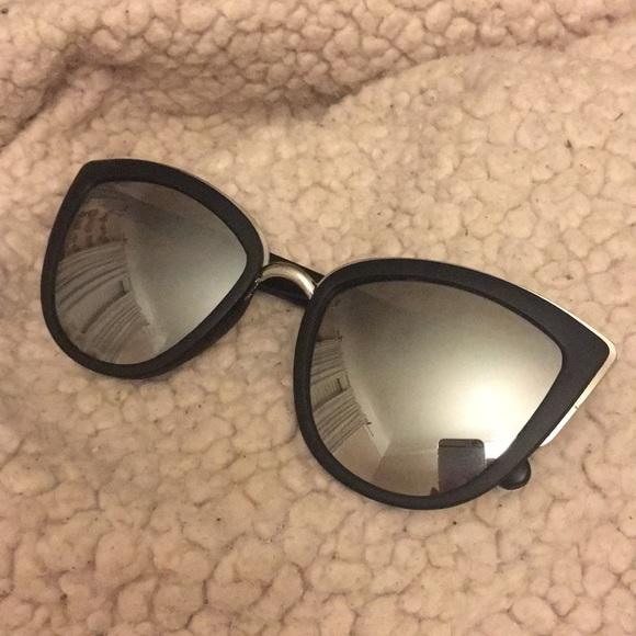 856d845ede Cotton On Accessories - Mirror Cat Eye Sunglasses- Silver  Matte Black